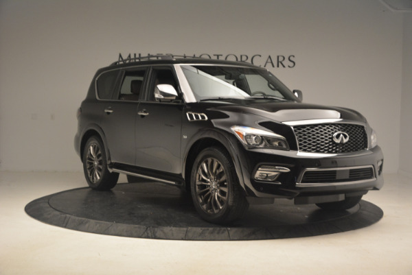 Used 2015 INFINITI QX80 Limited 4WD for sale Sold at Bugatti of Greenwich in Greenwich CT 06830 11