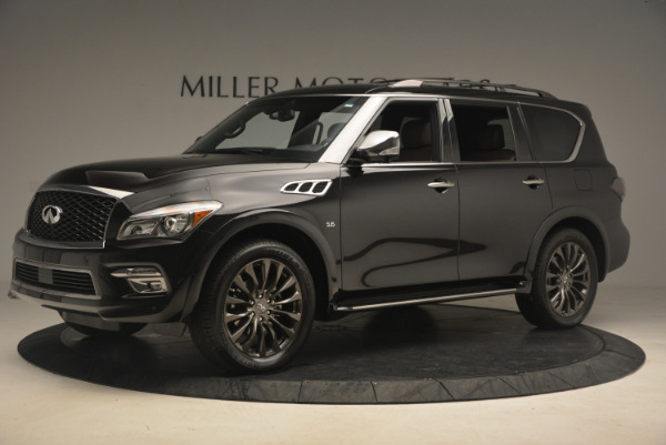 Used 2015 INFINITI QX80 Limited 4WD for sale Sold at Bugatti of Greenwich in Greenwich CT 06830 2