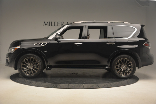 Used 2015 INFINITI QX80 Limited 4WD for sale Sold at Bugatti of Greenwich in Greenwich CT 06830 3