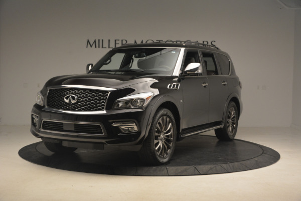 Used 2015 INFINITI QX80 Limited 4WD for sale Sold at Bugatti of Greenwich in Greenwich CT 06830 1