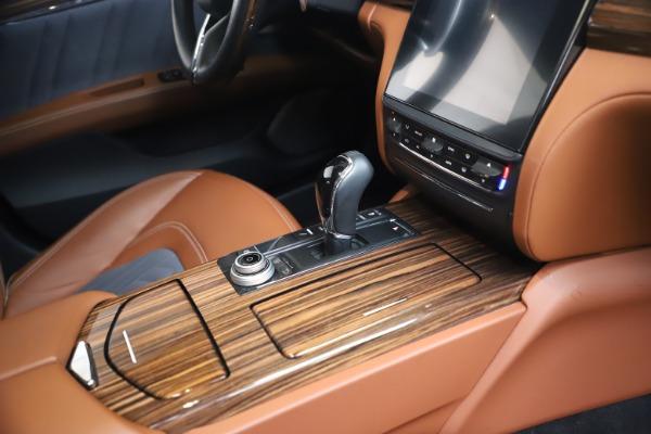 Used 2017 Maserati Quattroporte SQ4 GranLusso/ Zegna for sale $62,900 at Bugatti of Greenwich in Greenwich CT 06830 22