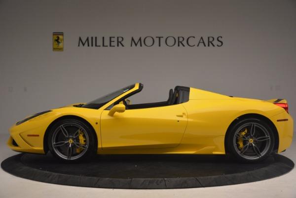Used 2015 Ferrari 458 Speciale Aperta for sale Sold at Bugatti of Greenwich in Greenwich CT 06830 3