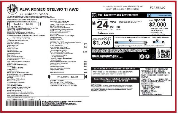 New 2018 Alfa Romeo Stelvio Ti Q4 for sale Sold at Bugatti of Greenwich in Greenwich CT 06830 27