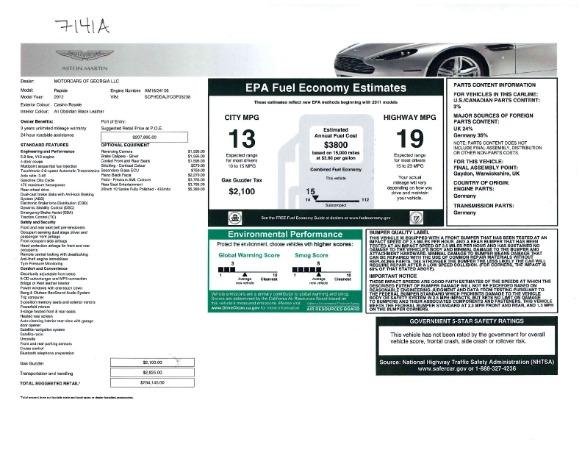 Used 2012 Aston Martin Rapide for sale Sold at Bugatti of Greenwich in Greenwich CT 06830 23