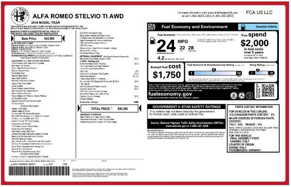 New 2018 Alfa Romeo Stelvio Ti Q4 for sale Sold at Bugatti of Greenwich in Greenwich CT 06830 26