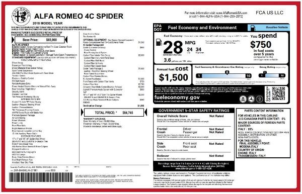New 2018 Alfa Romeo 4C Spider for sale Sold at Bugatti of Greenwich in Greenwich CT 06830 26