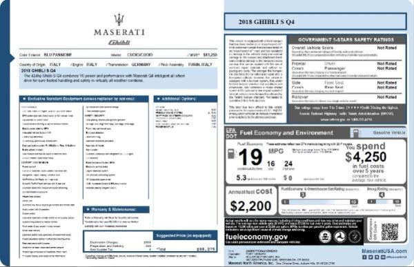 Used 2018 Maserati Ghibli S Q4 for sale $53,900 at Bugatti of Greenwich in Greenwich CT 06830 27