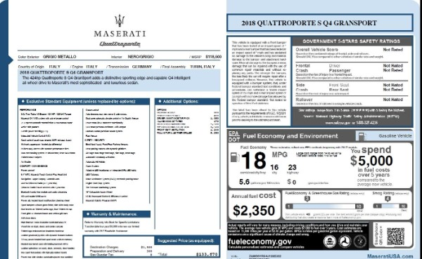 Used 2018 Maserati Quattroporte S Q4 Gransport for sale $66,900 at Bugatti of Greenwich in Greenwich CT 06830 26