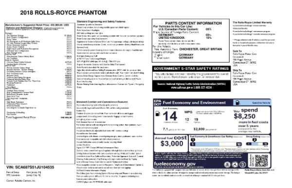 Used 2018 Rolls-Royce Phantom for sale Sold at Bugatti of Greenwich in Greenwich CT 06830 23