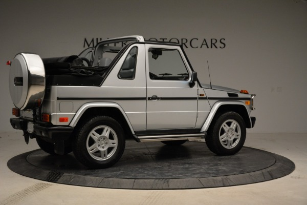 Used 1999 Mercedes Benz G500 Cabriolet for sale Sold at Bugatti of Greenwich in Greenwich CT 06830 8
