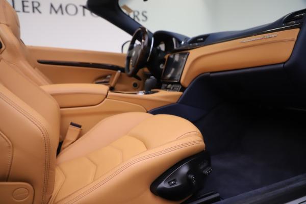 Used 2018 Maserati GranTurismo Sport Convertible for sale Sold at Bugatti of Greenwich in Greenwich CT 06830 27