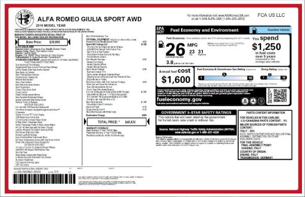 New 2018 Alfa Romeo Giulia Ti Sport Q4 for sale Sold at Bugatti of Greenwich in Greenwich CT 06830 26
