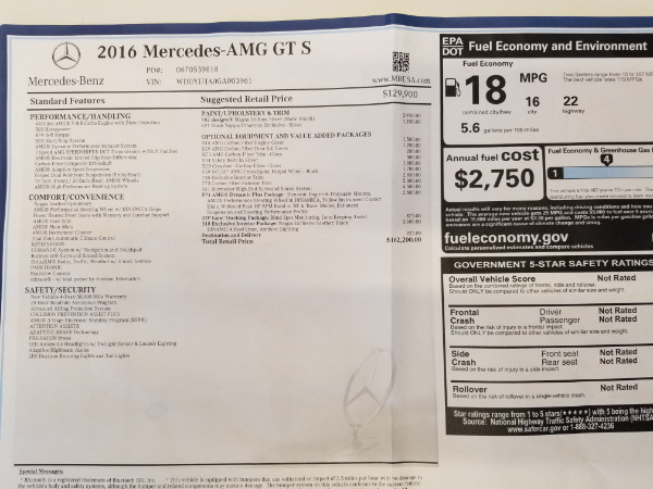 Used 2016 Mercedes-Benz AMG GT S for sale Sold at Bugatti of Greenwich in Greenwich CT 06830 25