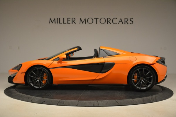 Used 2018 McLaren 570S Spider Convertible for sale Sold at Bugatti of Greenwich in Greenwich CT 06830 3