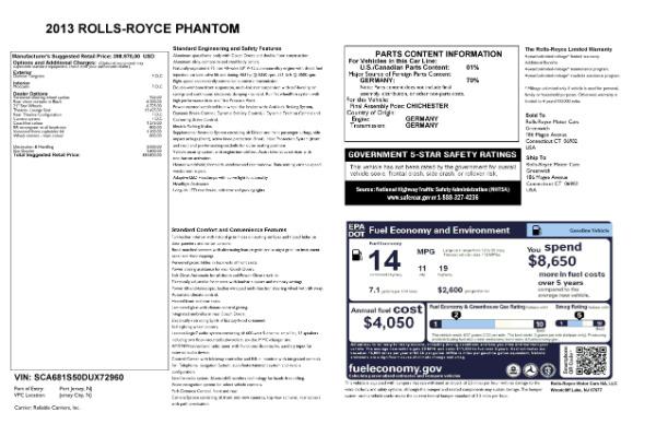 Used 2013 Rolls-Royce Phantom for sale Sold at Bugatti of Greenwich in Greenwich CT 06830 24