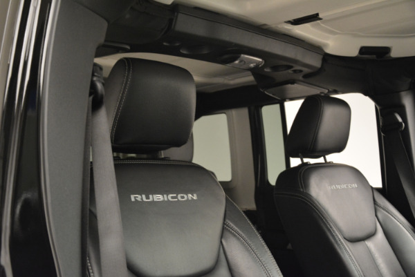 Used 2016 Jeep Wrangler Unlimited Rubicon for sale Sold at Bugatti of Greenwich in Greenwich CT 06830 20