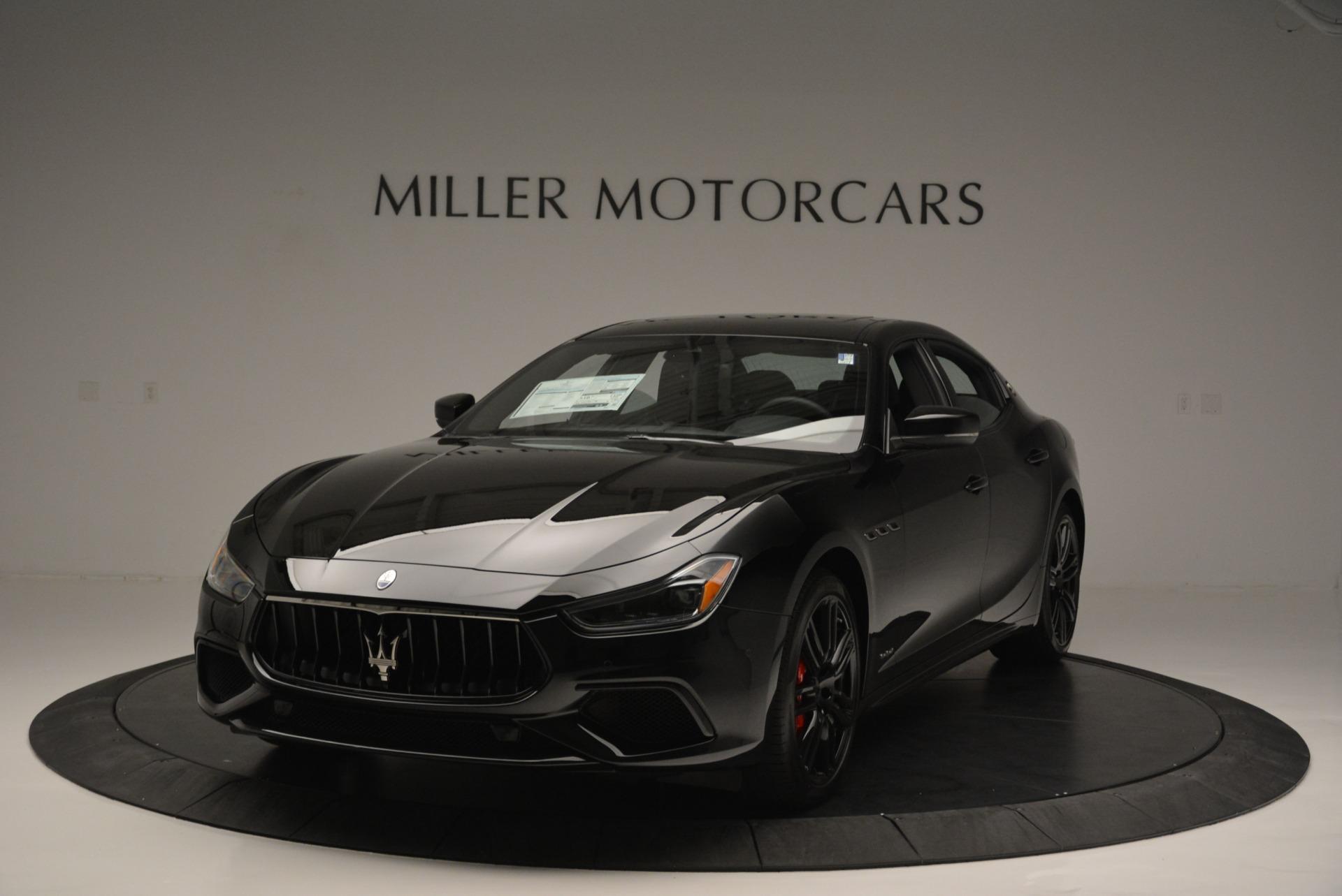 New 2018 Maserati Ghibli SQ4 GranSport Nerissimo for sale Sold at Bugatti of Greenwich in Greenwich CT 06830 1