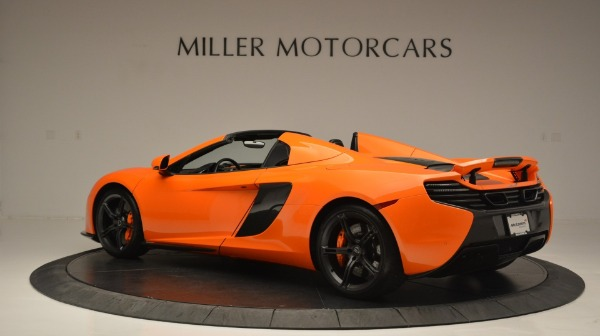 Used 2015 McLaren 650S Spider Convertible for sale Sold at Bugatti of Greenwich in Greenwich CT 06830 4
