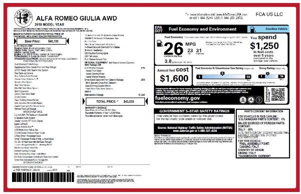 New 2018 Alfa Romeo Giulia Q4 for sale Sold at Bugatti of Greenwich in Greenwich CT 06830 26