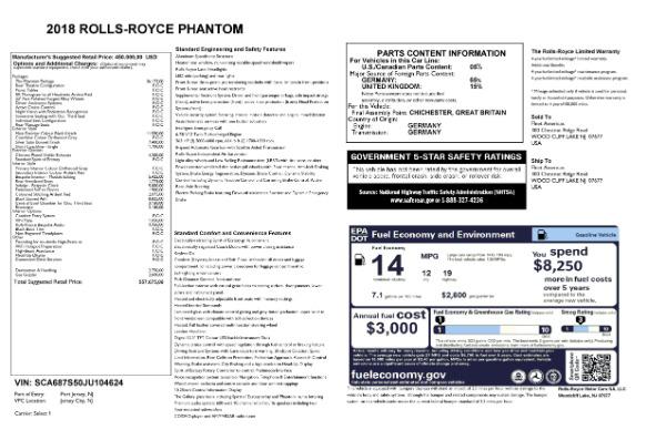New 2018 Rolls-Royce Phantom for sale Sold at Bugatti of Greenwich in Greenwich CT 06830 7
