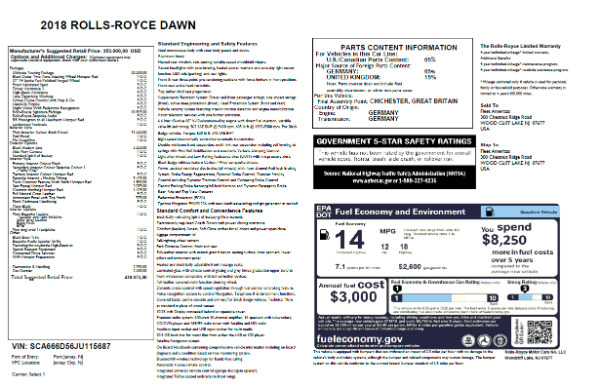 New 2018 Rolls-Royce Dawn for sale Sold at Bugatti of Greenwich in Greenwich CT 06830 7
