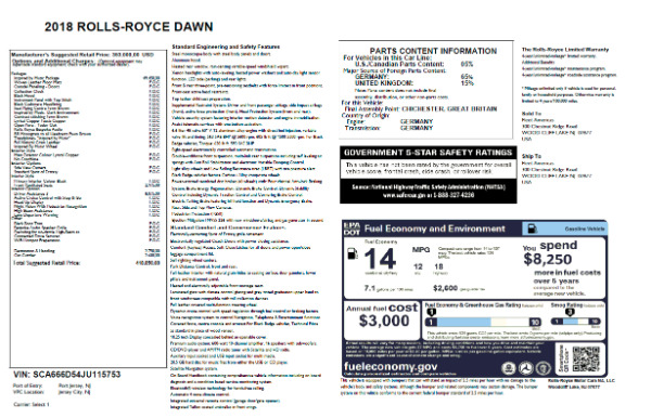 New 2018 Rolls-Royce Dawn for sale Sold at Bugatti of Greenwich in Greenwich CT 06830 7