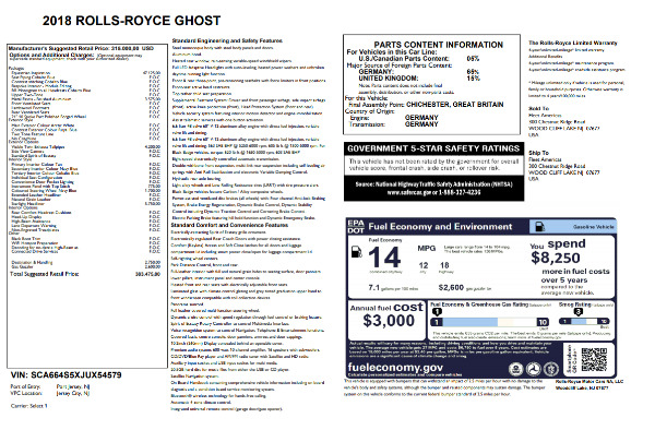 New 2018 Rolls-Royce Ghost for sale Sold at Bugatti of Greenwich in Greenwich CT 06830 7