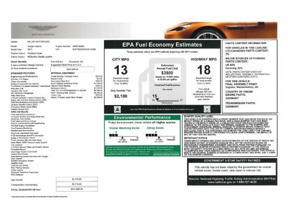 Used 2012 Aston Martin Virage Volante for sale Sold at Bugatti of Greenwich in Greenwich CT 06830 27