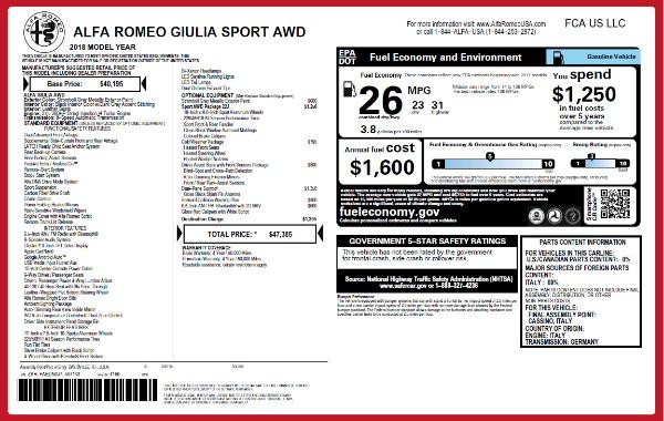 New 2018 Alfa Romeo Giulia Sport Q4 for sale Sold at Bugatti of Greenwich in Greenwich CT 06830 2