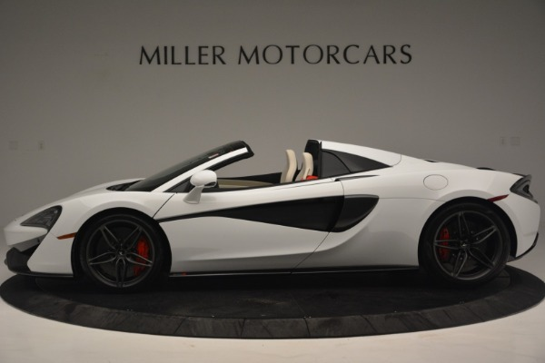 Used 2019 McLaren 570S Spider Convertible for sale $169,900 at Bugatti of Greenwich in Greenwich CT 06830 3