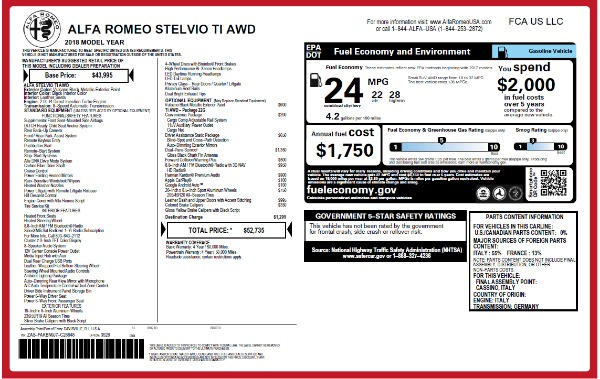 New 2018 Alfa Romeo Stelvio Ti Q4 for sale Sold at Bugatti of Greenwich in Greenwich CT 06830 2