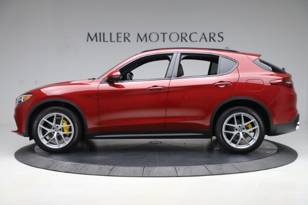New 2019 Alfa Romeo Stelvio Ti Sport Q4 for sale Sold at Bugatti of Greenwich in Greenwich CT 06830 3