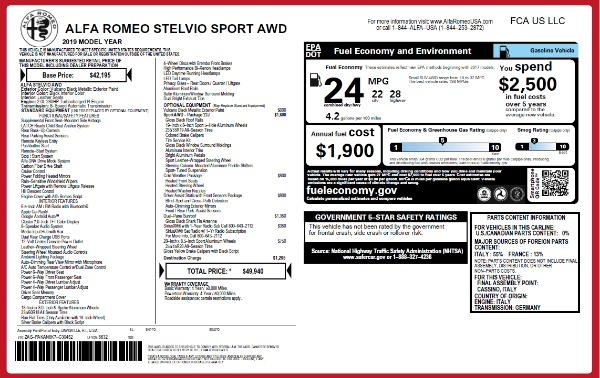 New 2019 Alfa Romeo Stelvio Sport Q4 for sale Sold at Bugatti of Greenwich in Greenwich CT 06830 26