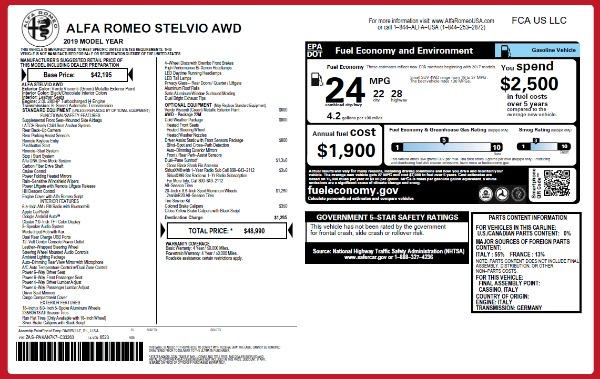 New 2019 Alfa Romeo Stelvio Q4 for sale Sold at Bugatti of Greenwich in Greenwich CT 06830 21