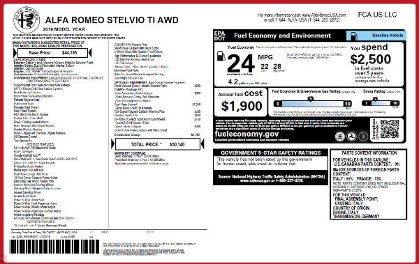New 2019 Alfa Romeo Stelvio Ti Q4 for sale Sold at Bugatti of Greenwich in Greenwich CT 06830 21