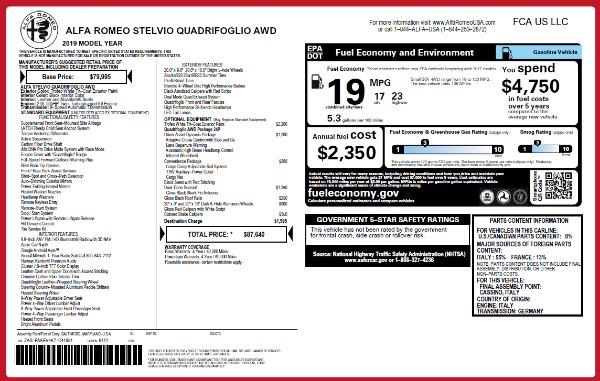 Used 2019 Alfa Romeo Stelvio Quadrifoglio for sale Sold at Bugatti of Greenwich in Greenwich CT 06830 26