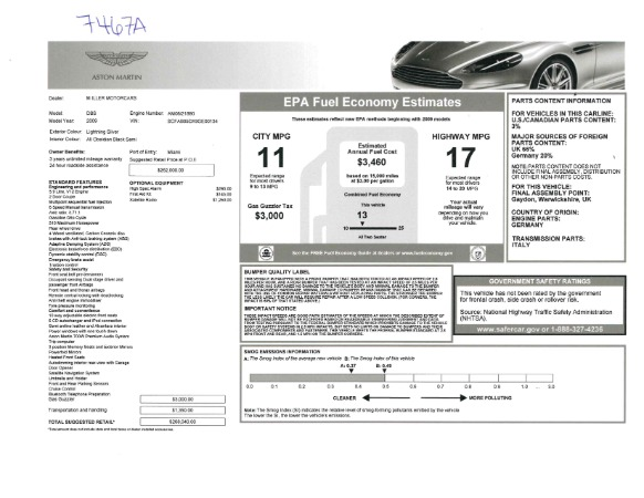 Used 2009 Aston Martin DBS Coupe for sale Sold at Bugatti of Greenwich in Greenwich CT 06830 26