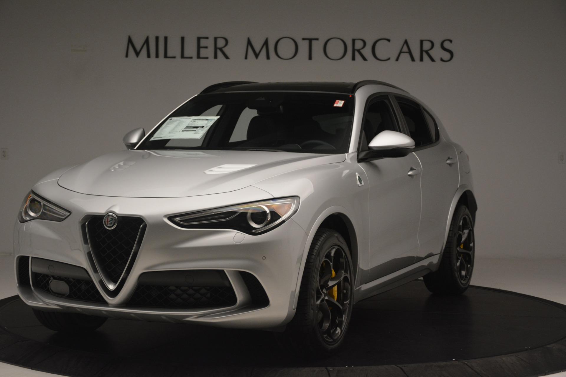 New 2019 Alfa Romeo Stelvio Quadrifoglio for sale $86,440 at Bugatti of Greenwich in Greenwich CT 06830 1