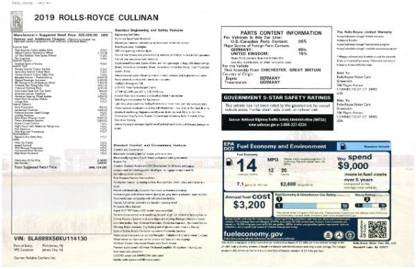 New 2019 Rolls-Royce Cullinan for sale Sold at Bugatti of Greenwich in Greenwich CT 06830 28