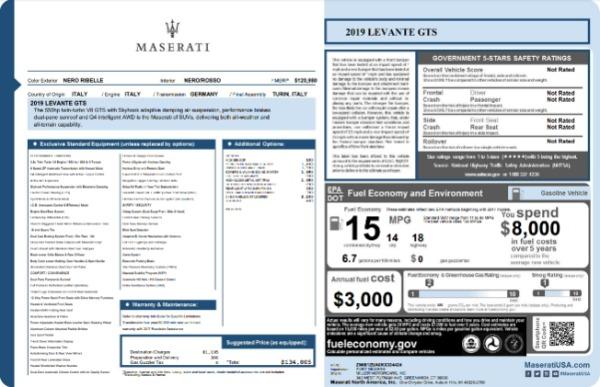 New 2019 Maserati Levante GTS for sale $134,005 at Bugatti of Greenwich in Greenwich CT 06830 22