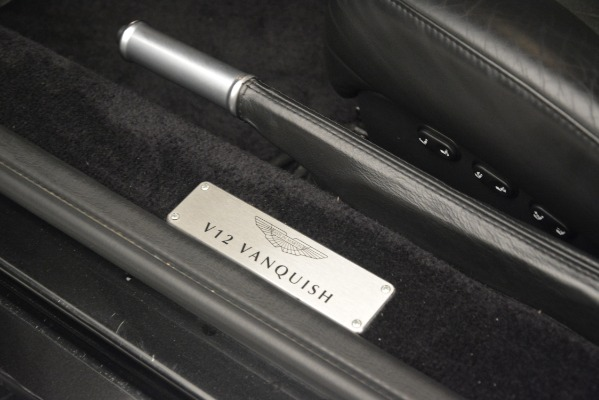 Used 2004 Aston Martin V12 Vanquish for sale Sold at Bugatti of Greenwich in Greenwich CT 06830 19