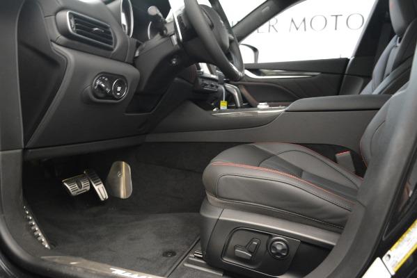 New 2019 Maserati Levante SQ4 GranSport Nerissimo for sale Sold at Bugatti of Greenwich in Greenwich CT 06830 14