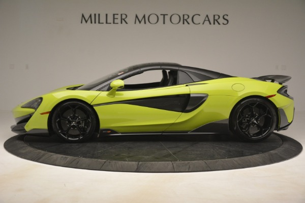 New 2020 McLaren 600LT SPIDER Convertible for sale $281,570 at Bugatti of Greenwich in Greenwich CT 06830 3