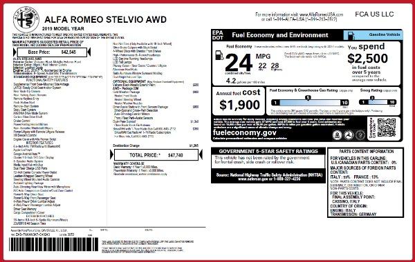 New 2019 Alfa Romeo Stelvio Q4 for sale Sold at Bugatti of Greenwich in Greenwich CT 06830 2