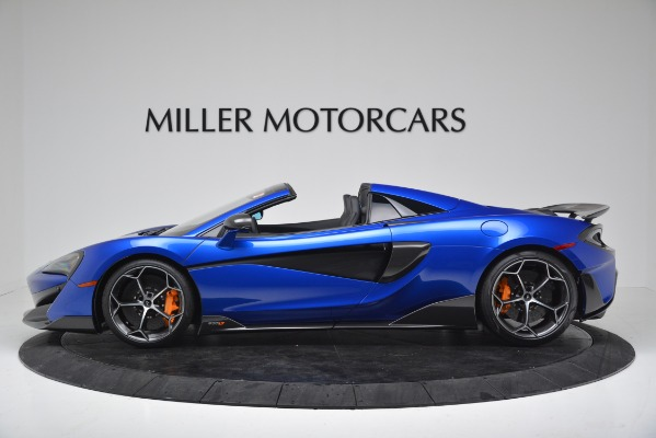 New 2020 McLaren 600LT SPIDER Convertible for sale $304,970 at Bugatti of Greenwich in Greenwich CT 06830 3