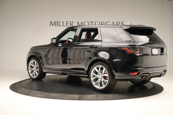 Used 2019 Land Rover Range Rover Sport SVR for sale Sold at Bugatti of Greenwich in Greenwich CT 06830 4