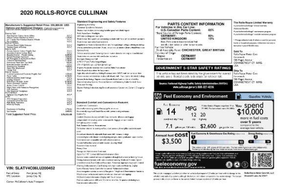 New 2020 Rolls-Royce Cullinan for sale Sold at Bugatti of Greenwich in Greenwich CT 06830 12