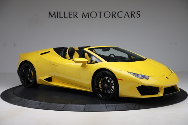 Used 2018 Lamborghini Huracan LP 580-2 Spyder for sale $203,900 at Bugatti of Greenwich in Greenwich CT 06830 10
