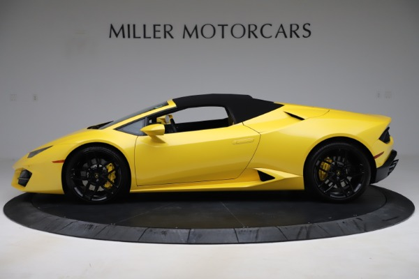 Used 2018 Lamborghini Huracan LP 580-2 Spyder for sale $203,900 at Bugatti of Greenwich in Greenwich CT 06830 13