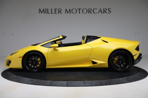 Used 2018 Lamborghini Huracan LP 580-2 Spyder for sale $203,900 at Bugatti of Greenwich in Greenwich CT 06830 3